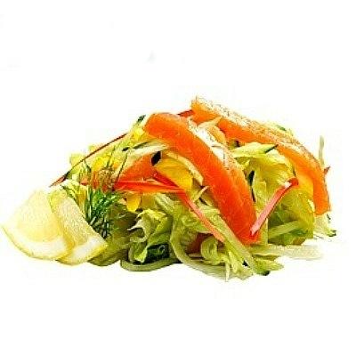 Салат филадельфия с семгой